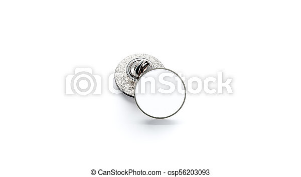 Blank White Round Silver Lapel Badge Mockup Stack