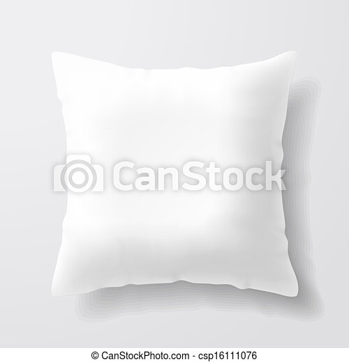 Blank white square pillow - csp16111076