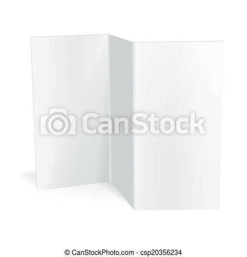 Blank White Vector Tri Fold Brochure Template Vectors  Search Clip