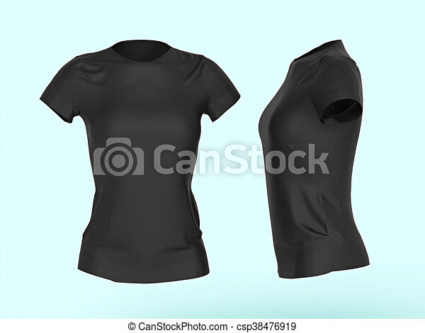 Download Blank women t-shirt template isolated 3d render.promo ...