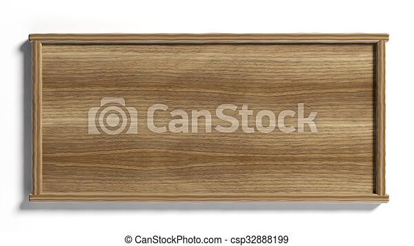 Blank wooden sign post,isolated on white background. - csp32888199