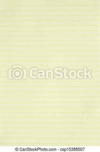 Blank yellow lined paper background or textured .