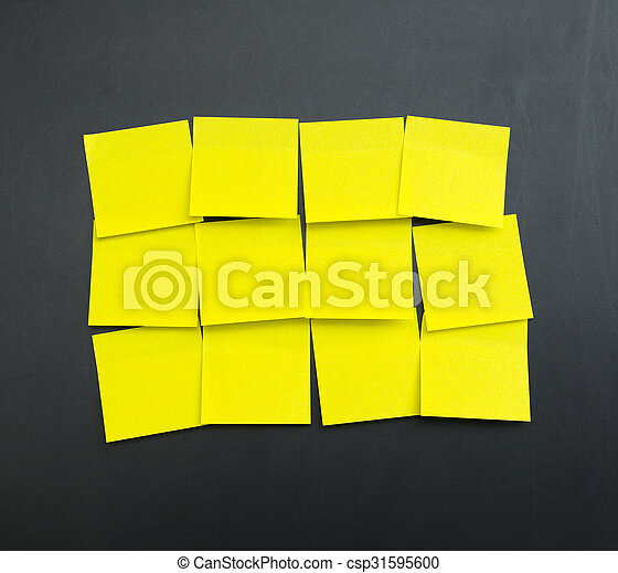 blank yellow sticky notes set of blank yellow sticky notes on black