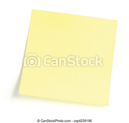 Blank Yellow To-Do List - csp4239196