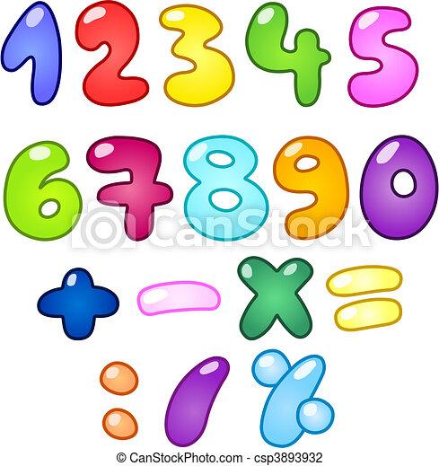Bubble Nummern - csp3893932