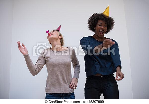 Blasen bei Party