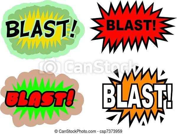 blast a collection of comic book cartoon sound effects stock rh canstockphoto com blast clipart blast clipart png