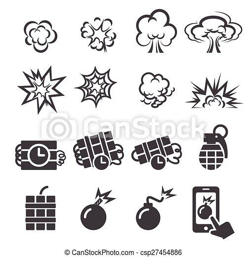 blast icon set - csp27454886