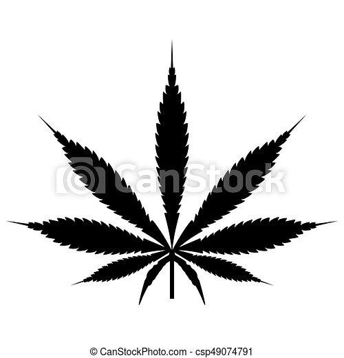 Blatt, farbe, cannabis, schwarz, (marijuana), ikone. Blatt,... EPS ...