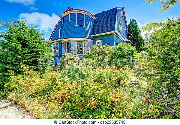 Lovely Blaue Verfassung, Rotes , Außen, Haus   Csp23635743