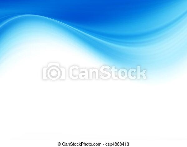 Blaue Welle - csp4868413