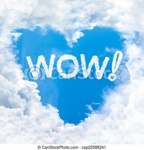 blauer himmel, hui, wort - csp22588241