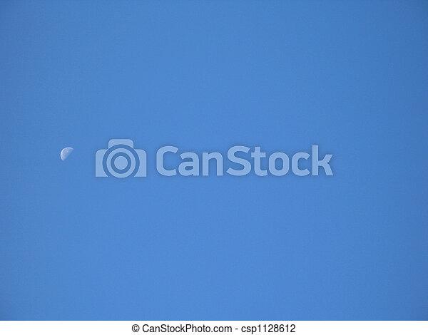 blauer himmel, mond - csp1128612