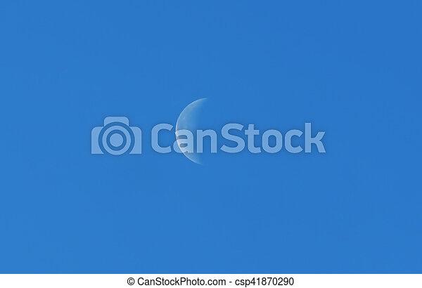 blauer himmel, mond - csp41870290