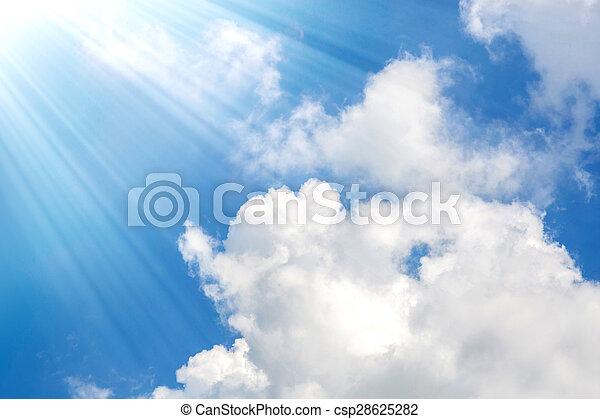 blauer himmel, wolkenhimmel - csp28625282