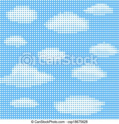 blauer himmel, wolkenhimmel - csp18675628