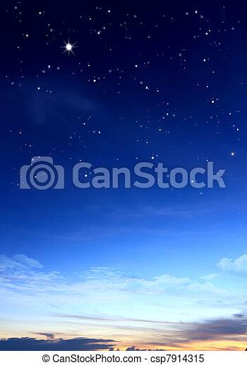 blauer himmel, wolkenhimmel - csp7914315