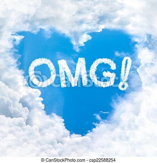 blauer himmel, wort, omg - csp22588254