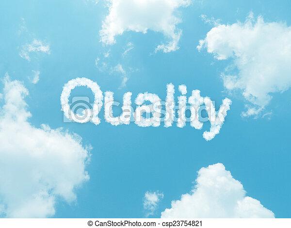 blauer hintergrund, himmelsgewölbe, design, wörter, wolke - csp23754821