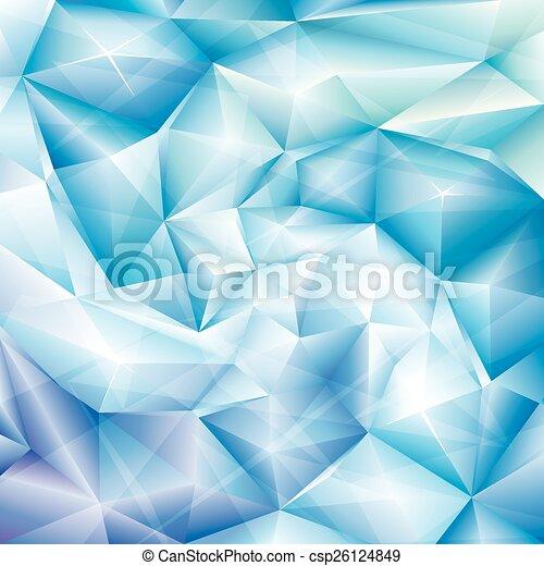 blauer kristall, hintergrund - csp26124849