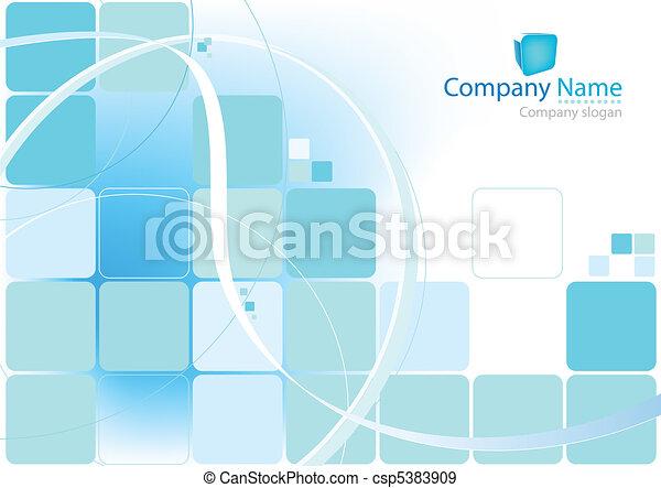 blaues, abstrakt, hintergrund - csp5383909