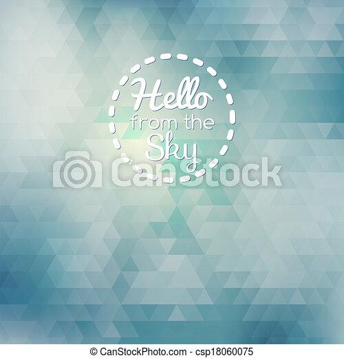 Blauer, abstrakter, geometrischer Hintergrund - csp18060075