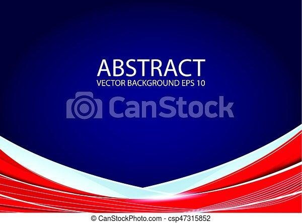 blaues, abstrakt, roter hintergrund - csp47315852