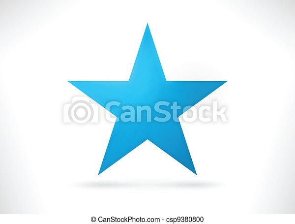 blaues, abstrakt, sternform - csp9380800