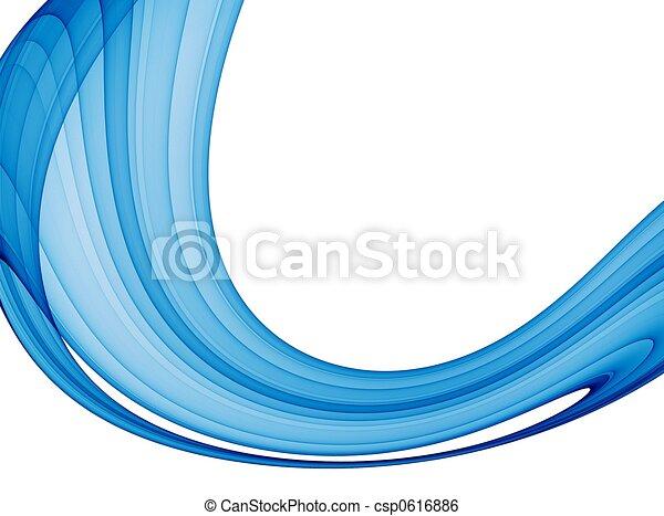 blaues, abstrakt, welle - csp0616886