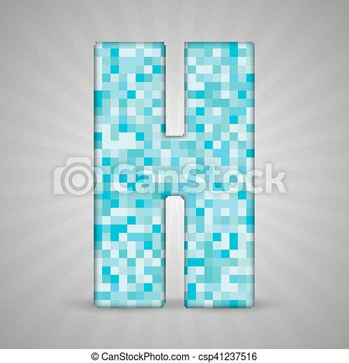 Blaues Alphabet Figur Brief Fliese Sing Blaues Symbole Form