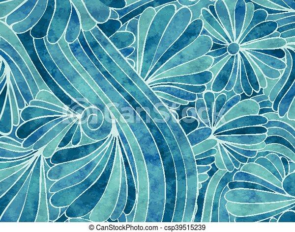 blaues, blumen-, hintergrund - csp39515239