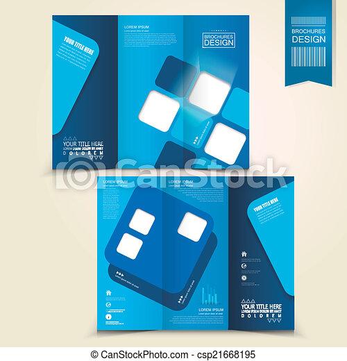 Blaues, broschüre, design, werbung, schablone. Blaues ...