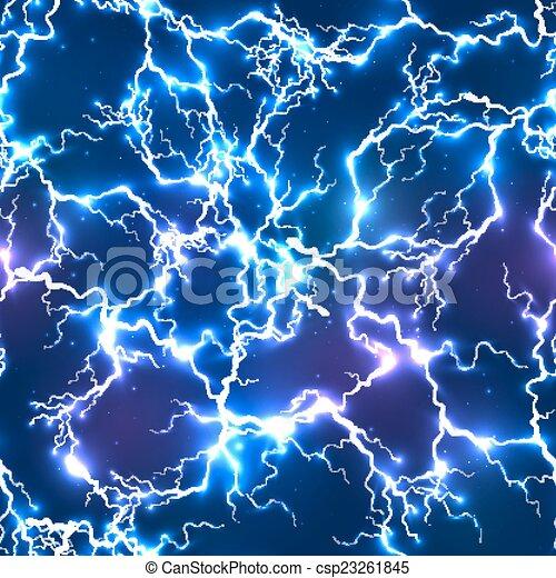 Abstract Blue elektrische Blitze nahtlos Muster - csp23261845