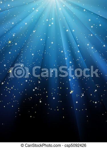Sterne auf blau gestreiftem Hintergrund. EPS 8 - csp5092426