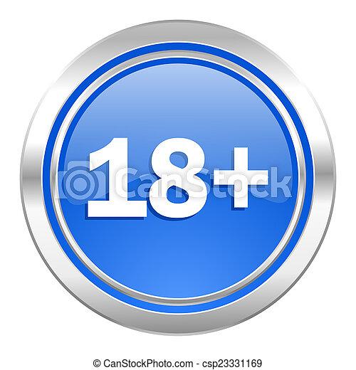 Symbol für Erwachsene, blaue Taste - csp23331169