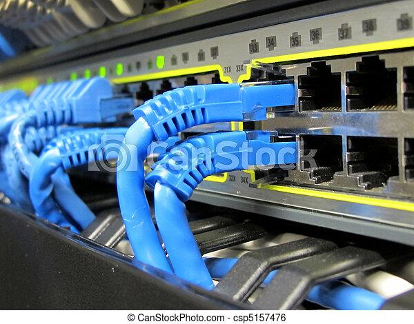 blaues, ethernet, ihm, kabel - csp5157476