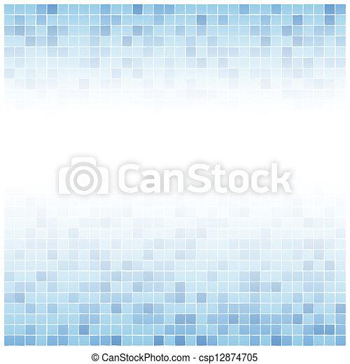 Center verblasste blaue Fliesen Hintergrund - csp12874705
