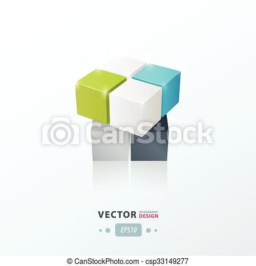 Blaues, graue , spielzeug, farbe, spiel, würfel, grün, 3d Vektoren ...