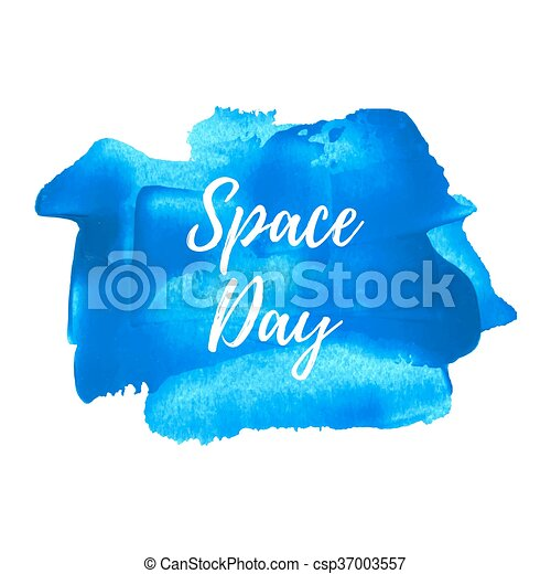 blaues, illustration., plakat, karte, gemalt, text, raum, feiertag, geschrieben, vektor, hintergrund, feier, wörter, tag, logo - csp37003557