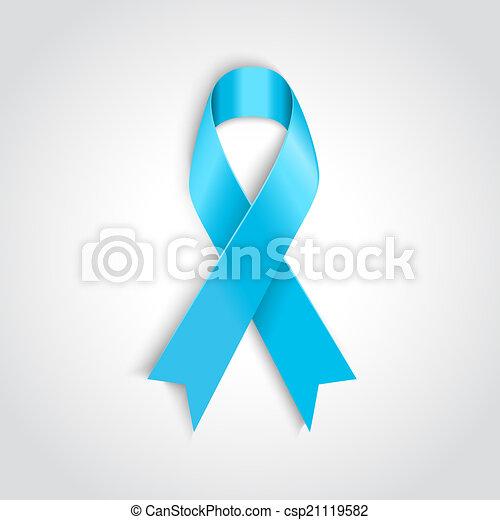 Blaues, krebs, licht, symbol, prostata, geschenkband.... Vektor ...