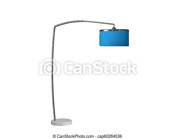 blaues, lamp;, studio, freigestellt, schreibtisch - csp60284536