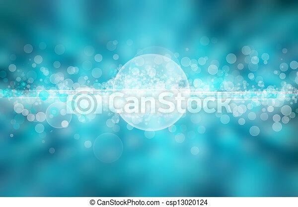 blaues licht, abstrakt, hintergrund - csp13020124