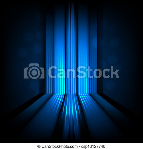 blaues licht, abstrakt, linien, hintergrund - csp13127748