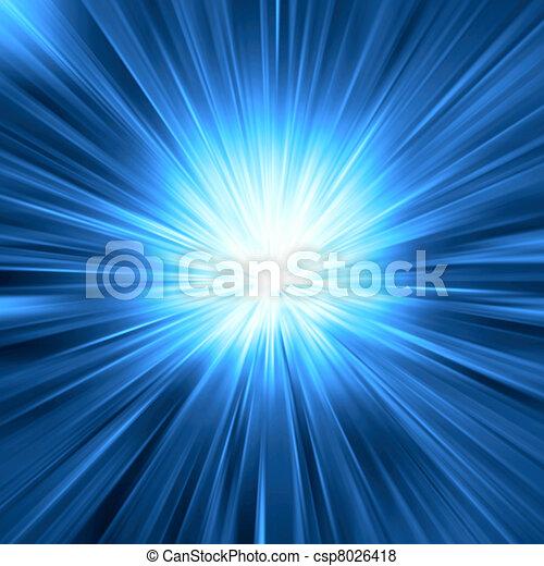 blaues licht, bersten - csp8026418