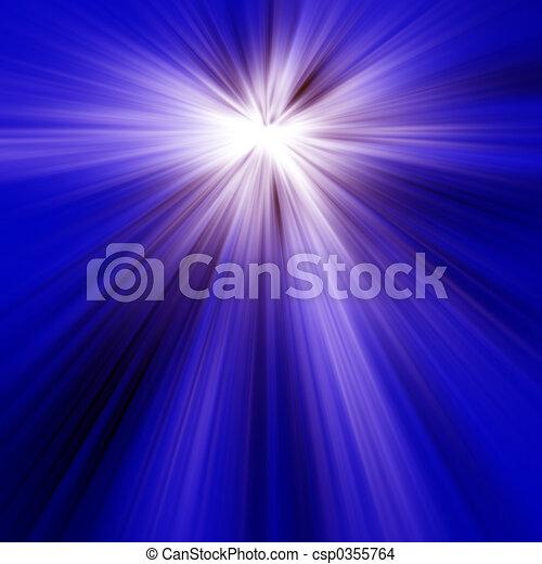 blaues licht, strahlen - csp0355764