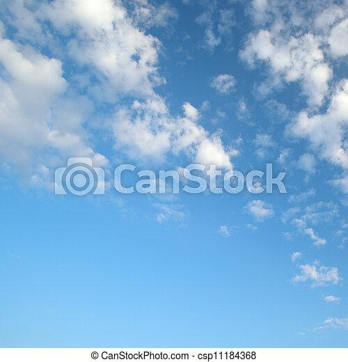 blaues licht, wolkenhimmel, himmelsgewölbe - csp11184368