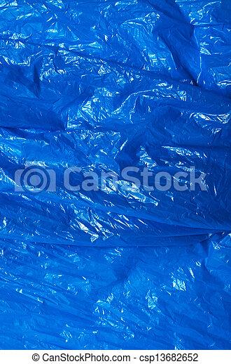 blaues, makro, plastiksack, hintergrund, beschaffenheit - csp13682652