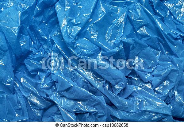 blaues, makro, plastiksack, hintergrund, beschaffenheit - csp13682658