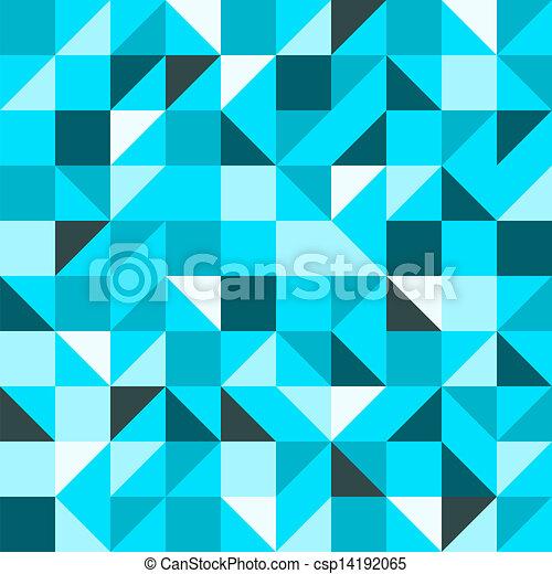 blaues, muster, dreieck, seamless - csp14192065