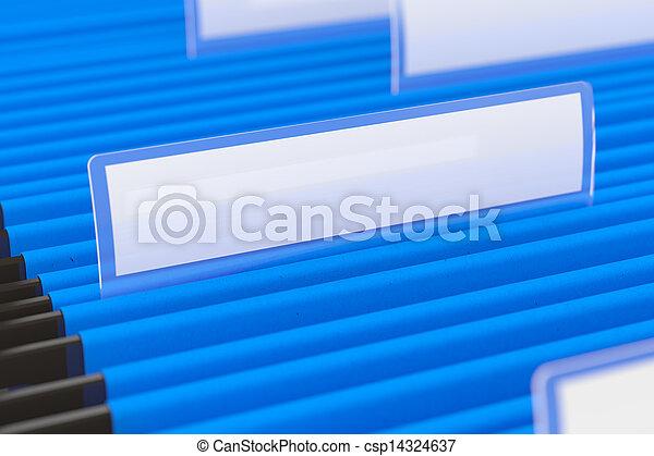 Blaue Ordner - csp14324637